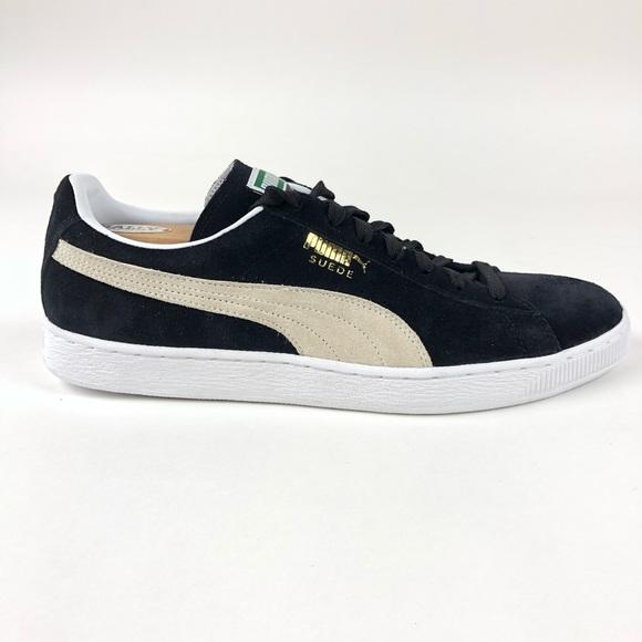 Black 03 Puma Shoes Suede Classic White 352634 Nwt 3R5j4ALq